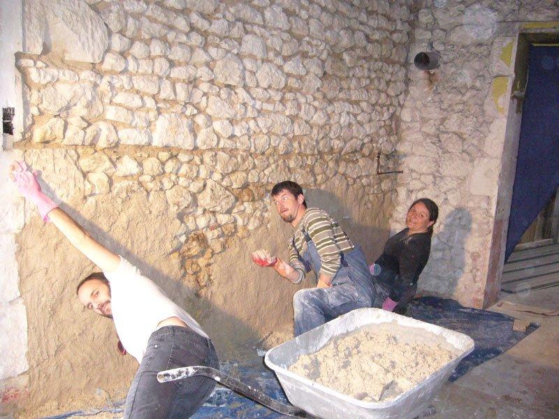 Travaux gogo la buanderie for Renovation mur ancien interieur